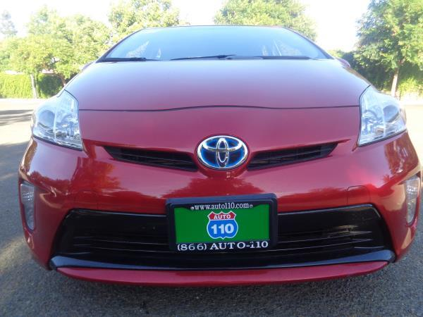 2013 TOYOTA PRIUS red 5 speed automatic 65281 miles Stock 2128 VIN JTDKN3DU3D0343898