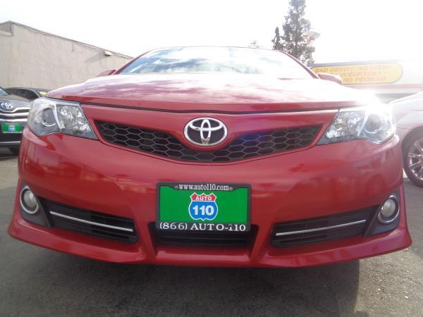 2012 TOYOTA CAMRY redblack 5 speed automatic 78307 miles Stock 2229 VIN 4T1BF1FK2CU628804