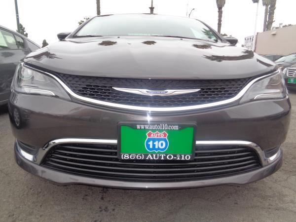 2015 CHRYSLER 200 grayblack 5 speed automatic 37466 miles Stock 2232 VIN 1C3CCCAB8FN558636