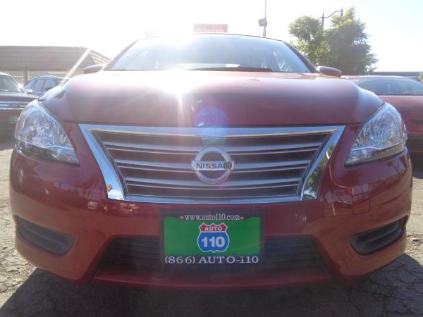 2014 NISSAN SENTRA redblack 5 speed automatic 52828 miles Stock 2238 VIN 3N1AB7APXEY225514