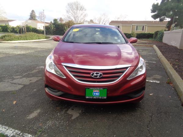 2014 HYUNDAI SONATA redgray auto 65101 miles Stock 2269 VIN 5NPEB4AC0EH901668