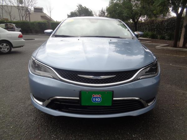 2015 CHRYSLER 200 blue 4 speed automatic 35368 miles Stock 2282 VIN 1C3CCCAB0FN655782