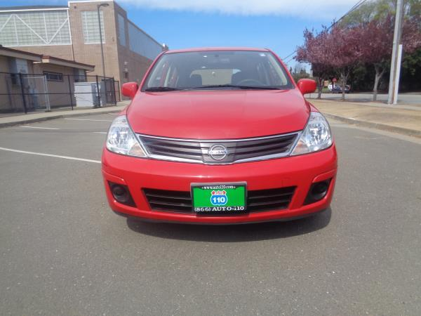 2012 NISSAN VERSA redbiege 4 speed automatic 90197 miles Stock 2308 VIN 3N1BC1CP0CL367845