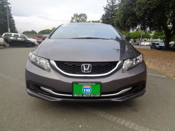 2014 HONDA CIVIC gray 5 speed automatic 47667 miles Stock 2353 VIN 19XFB2F51EE269111