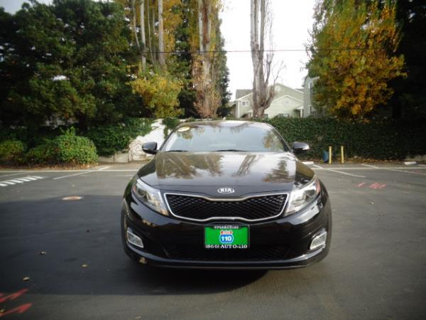 2014 KIA OPTIMA black 5speed 44790 miles Stock 2492 VIN KNAFX4A67F5376588