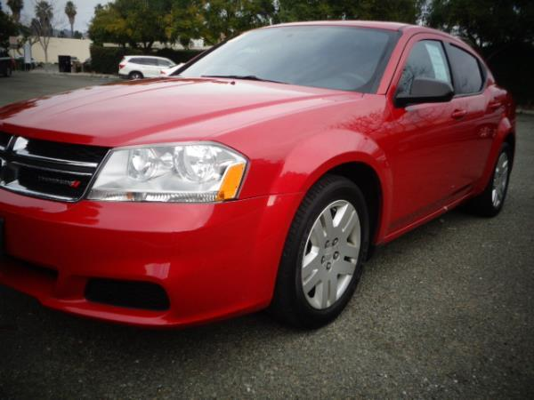 2014 DODGE AVENGER red 5 speed automatic 67504 miles Stock 2507 VIN 1C3CDZAB7EN237475