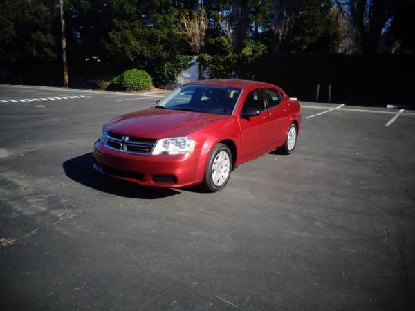 2014 DODGE AVENGER red 5 speed automatic 67363 miles Stock 2527 VIN 1C3CDZAB0EN202924