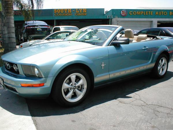 2007 FORD MUSTANG   PREMIUM bluebeige auto air conditioneralarmamfm radioanti-lock brakesc