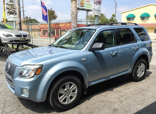 2008 MERCURY MARINER bluebeige automatic air conditioneralarmamfm radioanti-lock brakescd