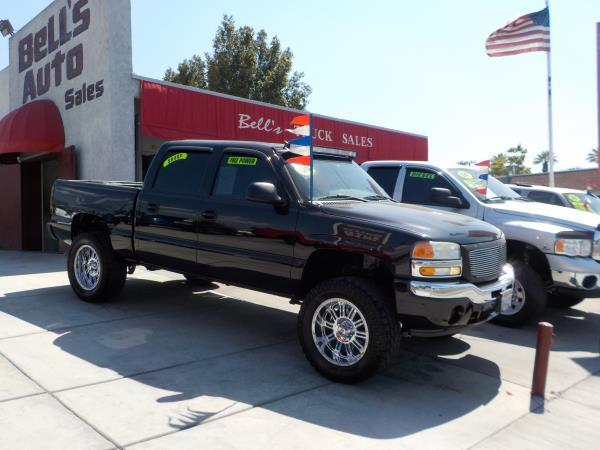 2006 GMC SIERRA 1500 CREW CAB blackcharcole auto air conditioneralarmamfm radioanti-lock br