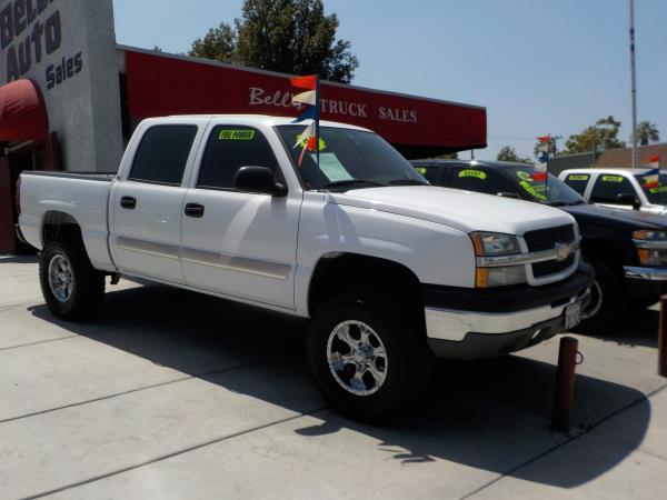 2004 CHEVROLET SILVERADO 1500 CREW CAB whitecharcole auto air conditioneralarmamfm radioant