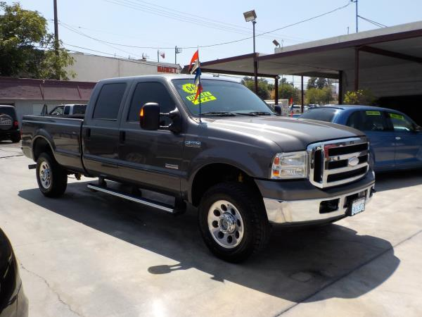 2006 FORD F350 CREW CAB LONG BED charcolegrey auto air conditioneralarmamfm radioanti-lock