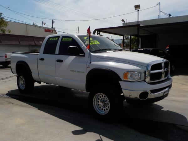 2005 DODGE RAM 2500 QUAD CAB 4WD whitecharcole auto air conditioneralarmamfm radioanti-lock