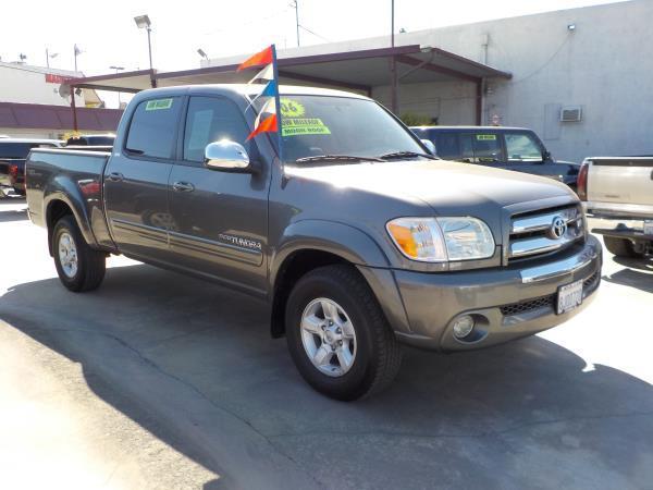 2006 TOYOTA TUNDRA CREW CAB TRD charcoletan auto air conditioneralarmamfm radioanti-lock br