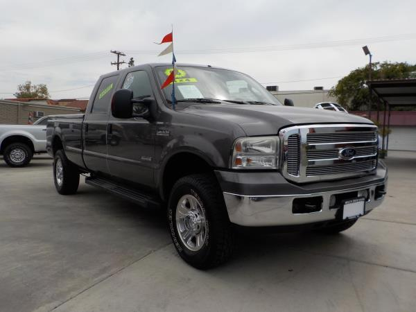 2006 FORD F350 CREW CAB 4WD charcolegrey auto air conditioneralarmamfm radioanti-lock brake