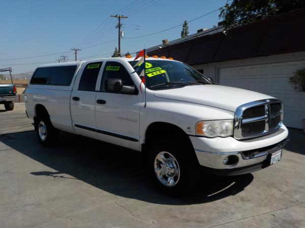 2005 DODGE RAM PICKUP 3500 QUAD CBA 4WD whitecharcole auto air conditioneralarmamfm radioan