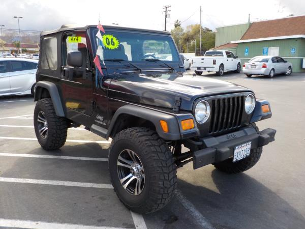 2006 JEEP WRANGLER blackblack auto air conditioneralarmamfm radioanti-lock brakescd player