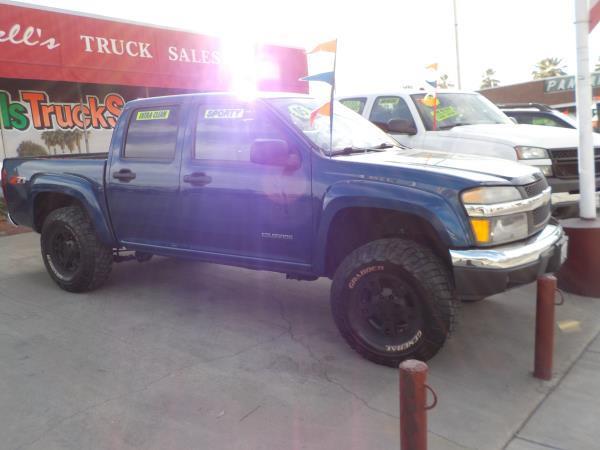 2005 CHEVROLET COLORADO CREW bluecharcole auto air conditioneralarmamfm radioanti-lock brak