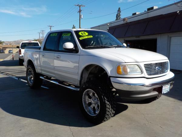 2003 FORD F-150 SUPER CREW whitegrey auto air conditioneralarmamfm radioanti-lock brakescd