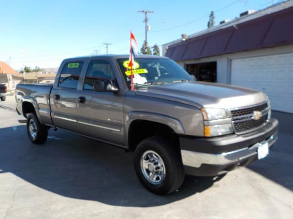 2007 CHEVROLET SILVERADO 2500HD CREW smoke greycharcole auto air conditioneralarmamfm radio