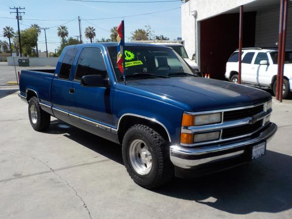 1996 CHEVROLET C1500 X CAB SB blueblue auto air conditioneralarmamfm radioanti-lock brake