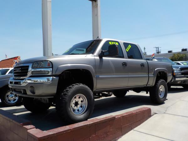 2006 GMC SIERRA 1500 CREW CAB smoke greycharcole grey automatic air conditioneralarmamfm rad