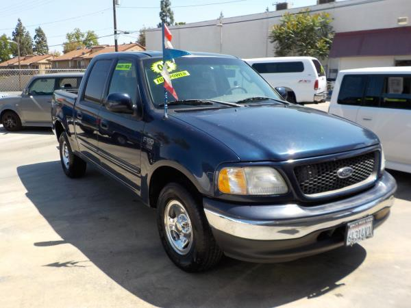 2003 FORD F-150 SUPER CREW bluegray auto air conditioneralarmamfm radioanti-lock brakescd