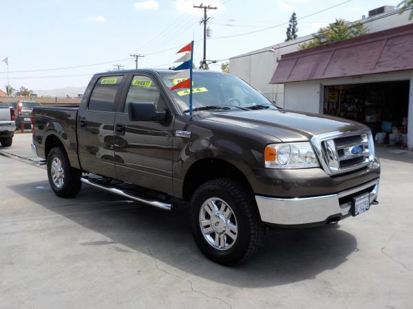 2008 FORD F-150 SUPER CREW 4WD greygrey cloth automatic air conditioneralarmamfm radioanti-