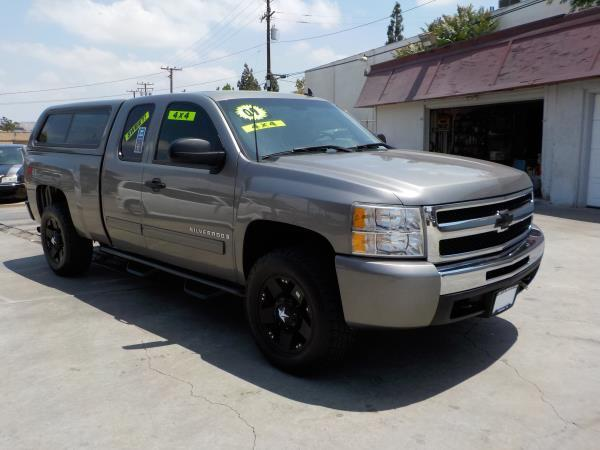 2009 CHEVROLET SILVERADO 1500 X CAB 4WD greyblack automatic air conditioneralarmamfm radioa