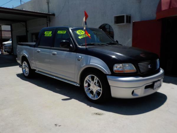 2003 FORD F-150 SUPER CREW HARLEY blacksilverblacksilver automatic air conditioneralarmamf