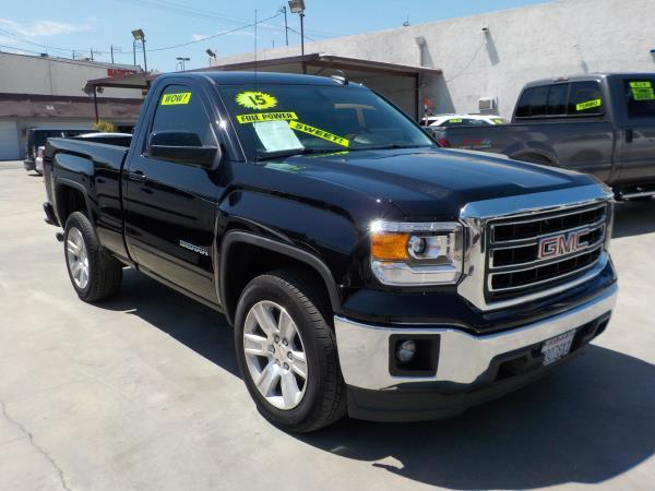 2015 GMC SIERRA 1500 REG CAB blackblack auto air conditioneralarmamfm radioanti-lock brakes