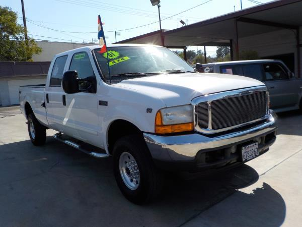 2001 FORD F-350 CREW LONG whitegrey auto air conditioneralarmamfm radioanti-lock brakescd