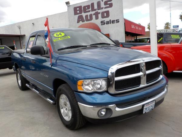 2004 DODGE RAM PICKUP 1500 QUAD CAB bluecharcole automatic air conditioneralarmamfm radioan