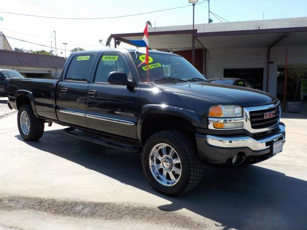 2004 GMC SIERRA 2500HD CREW LONG charcolegrey auto air conditioneralarmamfm radioanti-lock