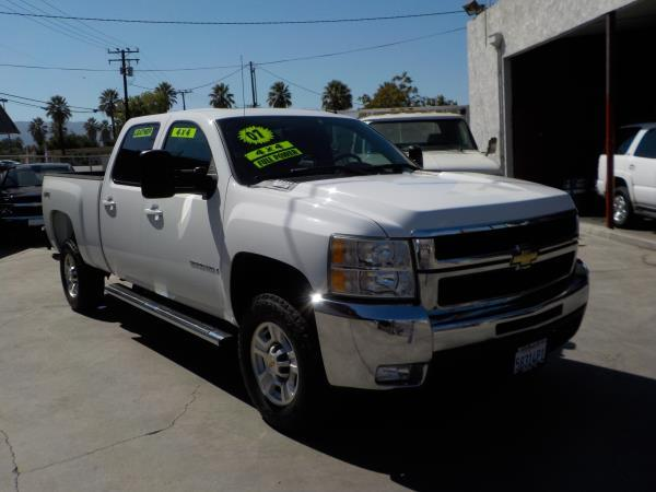 2007 CHEVROLET SILVERADO 2500HD CREW 4WD whitegrey auto air conditioneralarmamfm radioanti-