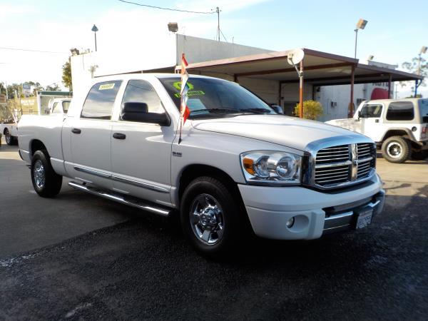 2007 DODGE RAM PICKUP 1500 MEGA CAB whitegrey auto air conditioneralarmamfm radioanti-lock