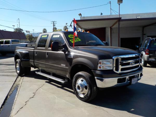 2006 FORD F-350 CREW DUALLY greytan automatic air conditioneralarmamfm radioanti-lock brake