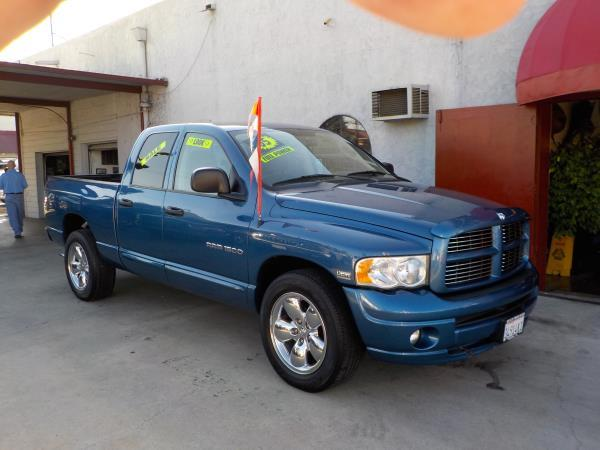 2005 DODGE RAM PICKUP 1500 QUAD bluetan automatic air conditioneralarmamfm radioanti-lock b