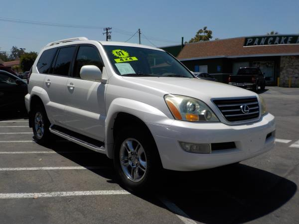 2007 LEXUS GX 470 pearl whitetan clth automatic air conditioneralarmamfm radioanti-lock bra