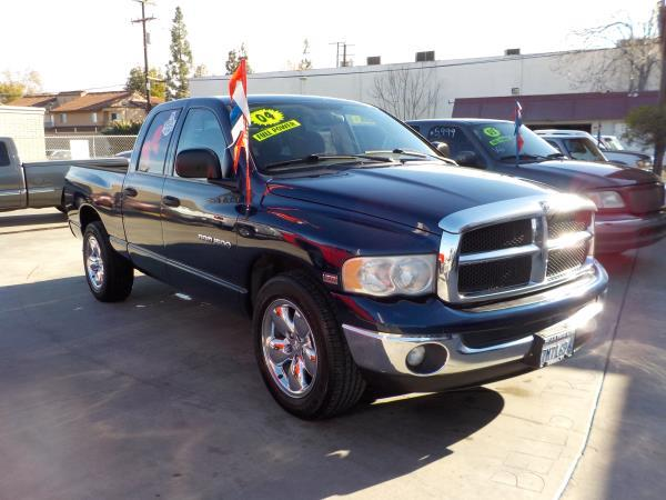 2004 DODGE 1500 QUAD CAB RAM PICKUP bluetan automatic air conditioneralarmamfm radioanti-lo