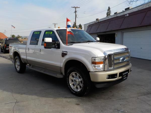 2010 FORD F-250 KING RANCH pearl whitetan automatic air conditioneralarmamfm radioanti-lock