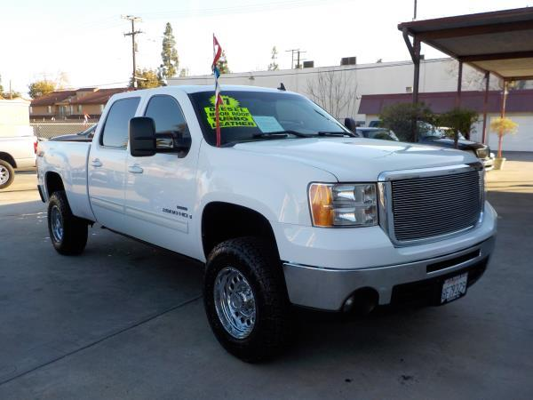 2007 GMC SIERRA 2500 HD CREW whitegrey automatic air conditioneralarmamfm radioanti-lock br