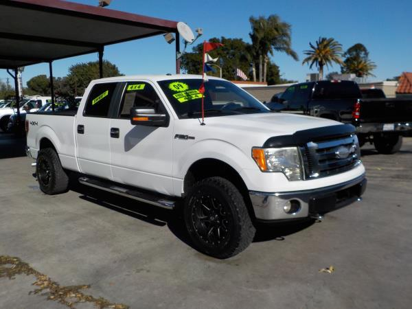 2009 FORD F-150 SUPER CREW 4WD whitegrey automatic air conditioneralarmamfm radioanti-lock