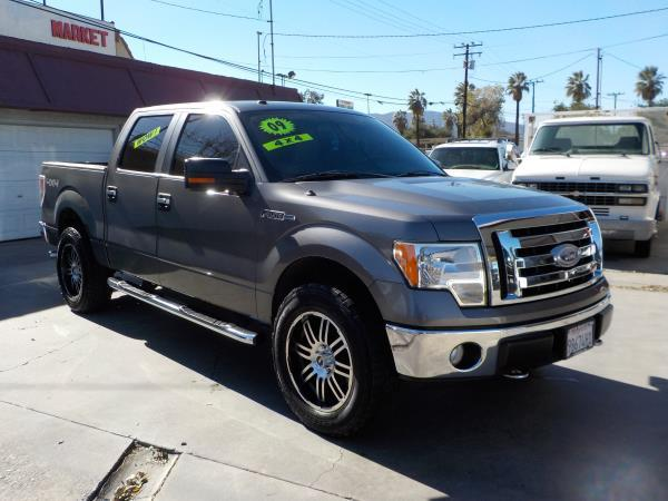 2009 FORD F-150 SUPER CREW 4WD charcolegrey automatic air conditioneralarmamfm radioanti-lo
