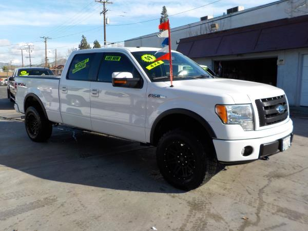 2009 FORD F-150 SUPER CREW whiteblack automatic air conditioneralarmamfm radioanti-lock bra