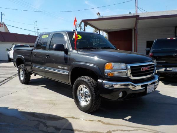 2005 GMC SIERRA 2500HD CREW charcolecharcole  automatic air conditioneralarmamfm radioanti-