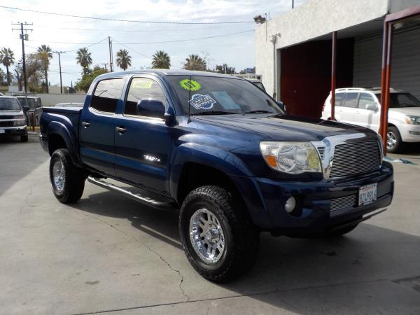 2007 TOYOTA TACOMA CREW CAB bluegrey automatic air conditioneralarmamfm radioanti-lock brak