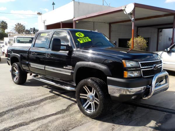 2007 CHEVROLET SILVERADO CLASSIC CREW 4WD blackcharcole grey automatic air conditioneralarmam