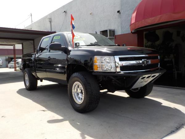 2008 CHEVROLET SILVERADO 1500 CREW blackblack auto air conditioneralarmamfm radioanti-lock