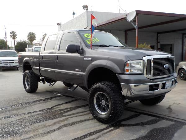 2006 FORD F-250 CREW 4WD charcolegrey automatic air conditioneralarmamfm radioanti-lock bra